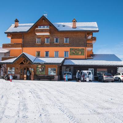 Hotel da Barba con la neve